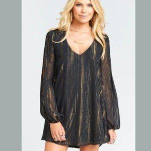 Show Me Your Mumu Dress Black and Gold Small